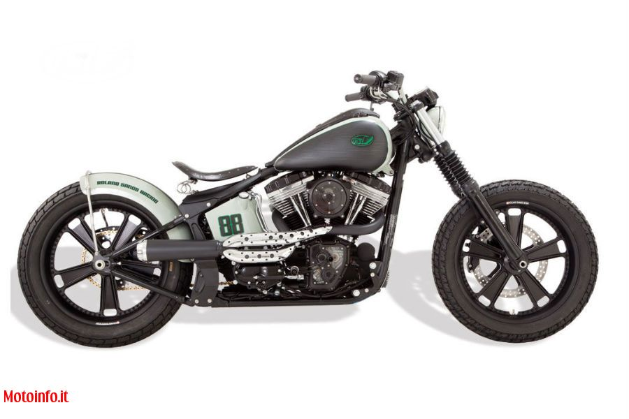 Foto: ROLAND SANDS BLACKLINE SOFTAIL 2011